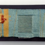 'Raw Edges' woven tapestry 30 x 15cm