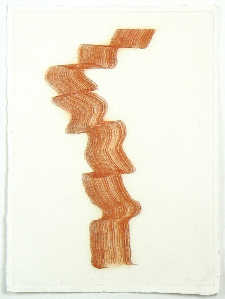 'Red Ribbon' Etching