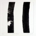 'Worn Stripe' Drypoint image 200mm square