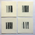 'Stripes' etchings each image 8mm square
