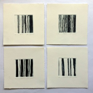 'Stripes' etchings